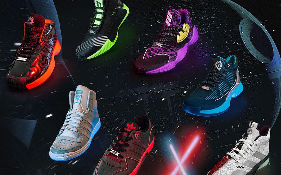 Adidas lanzará cuatro diseños de tenis basados en personajes icónicos de Star Wars (Foto: Cortesía)