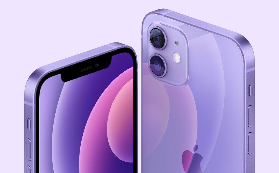 iPhone 12 color morado ya se encuentra disponible en el mercado. (Imagen: Apple)