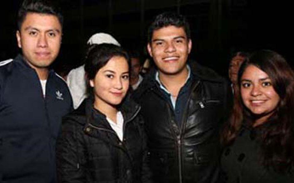 Edwin Cruz, Tania Ramírez, Armanado Damian y Andrea Baños