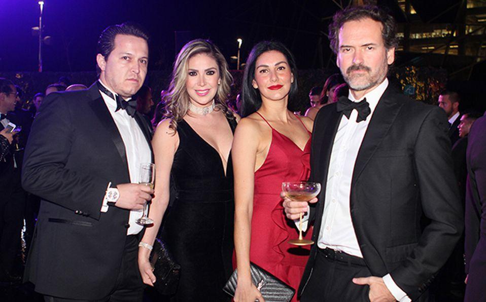 Adalberto Díaz, Hazel Sandoval, Carol Romo y Óscar Naveja