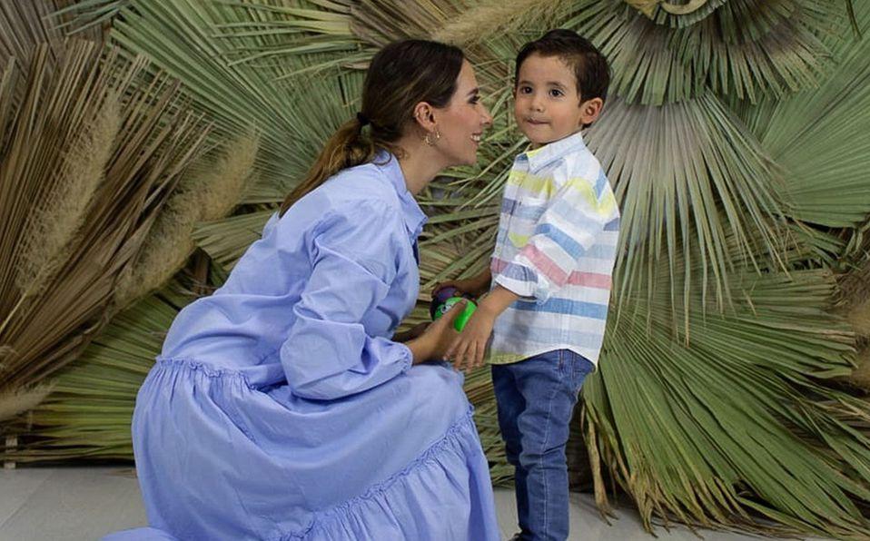 Cindy Torres y su pequeño hijo Federico. Foto: Cindy Torres