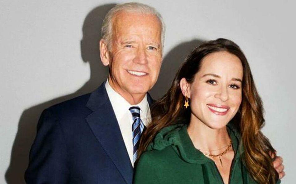 Ashley Biden junto a su padre (Foto: Instagram).