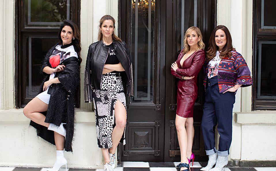 Magda Fernández, Jaydy Michel, Elleni Bechelani y Gloria Calzada