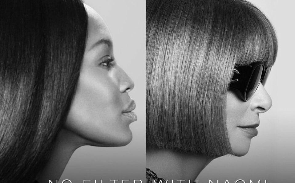 Naomi Campbell entrevistó a la editora de Vogue, Anna Wintour (Foto: Instagram).