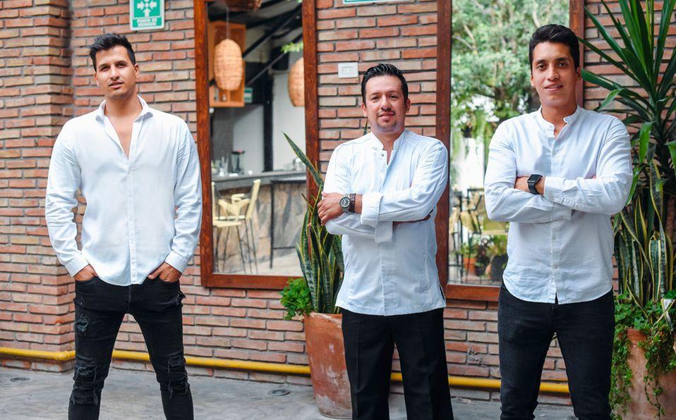 Luis Ramos Atiyeh, Luis Téllez y Carlos Alonzo promueven la cocina mexicana en su restaurante Maia Taller Culinario (Fotos: Les Arts Studio)