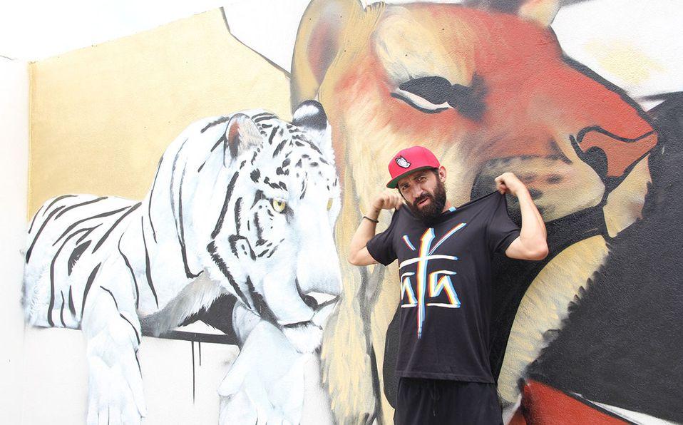 Enrique Zapata, mejor conocido en el arte del grafiti como Trepo Parker.