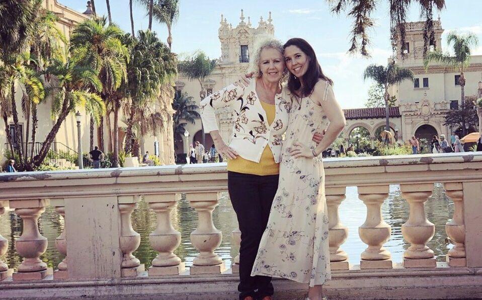 Giovanna Acha y su mamá.