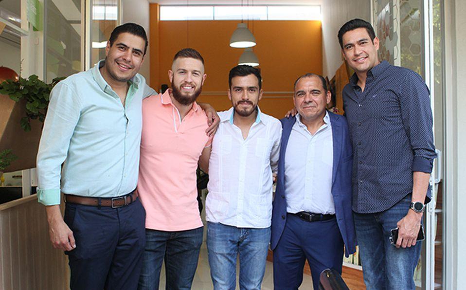 Héctor Carreño, Raúl Arreola, Pablo Cortés, Carlos Flores y Ricardo Carreño