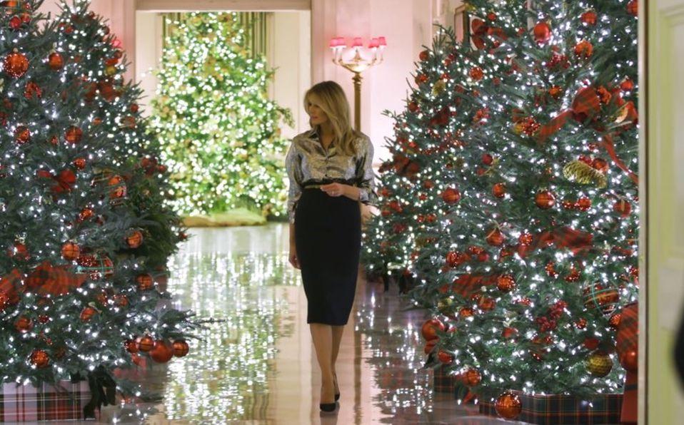 Melania Trump y su decoración navideña para la Casa Blanca