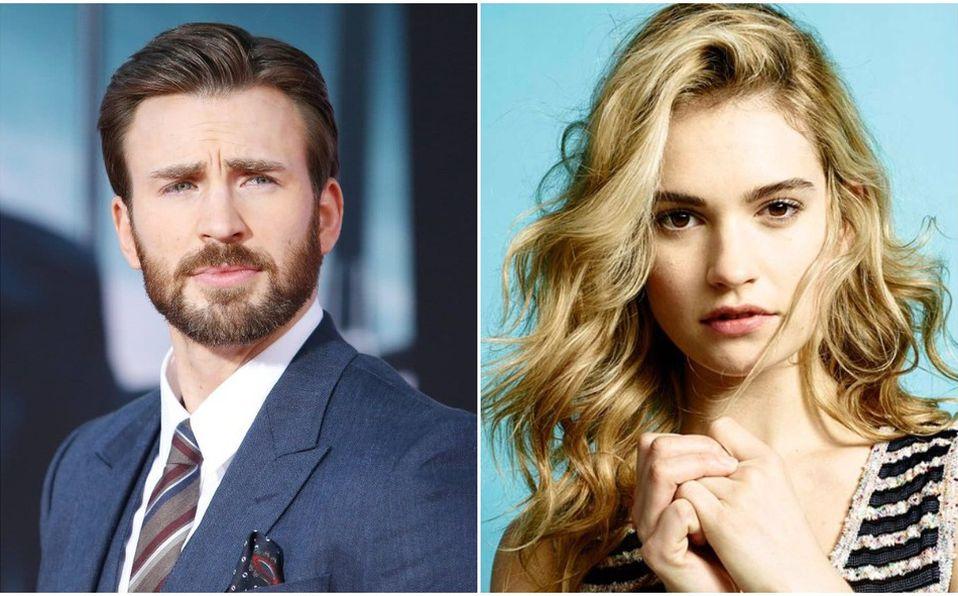 Chris Evans y Lily James, ¿la nueva pareja de Hollywood? (Foto: Instagram)