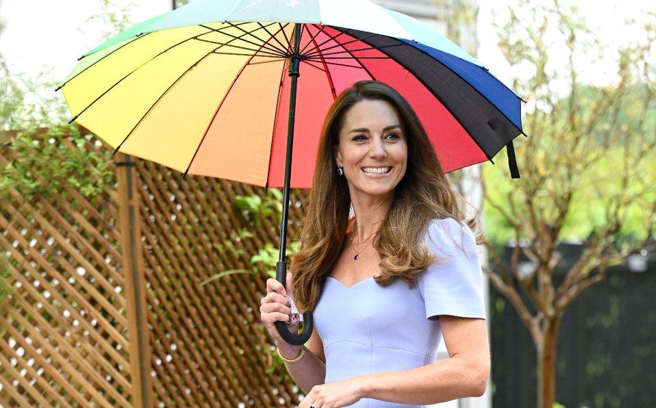 Kate Middleton y el vestido para lucir como una Reina en días de lluvia (Foto: Getty Images)