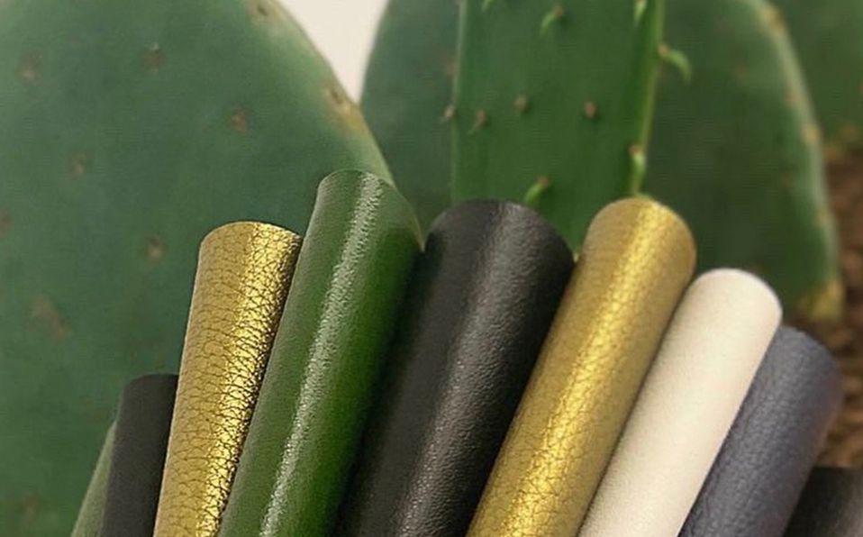 El producto elaborado con nopal tiene características similares a la piel animal. Foto: Instagram Desserto