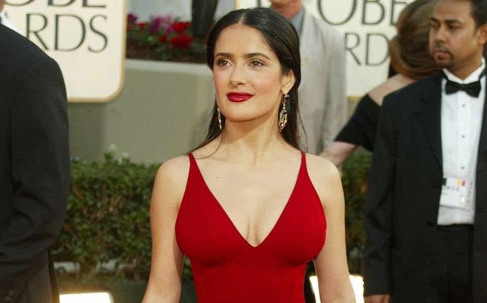 Salma Hayek y el vestido rojo que se robó los Golden Globes 2021 (Foto: Instagram)
