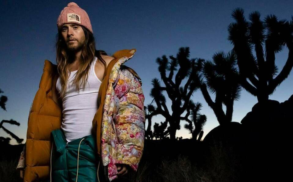 Jared Leto presume su lado alpinista en una sesión de fotos para la colección The North Face x Gucci.