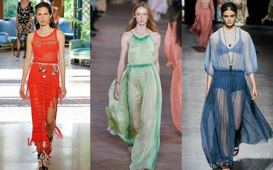 El naked dress se ha reinventado para seguir presente en las pasarelas.