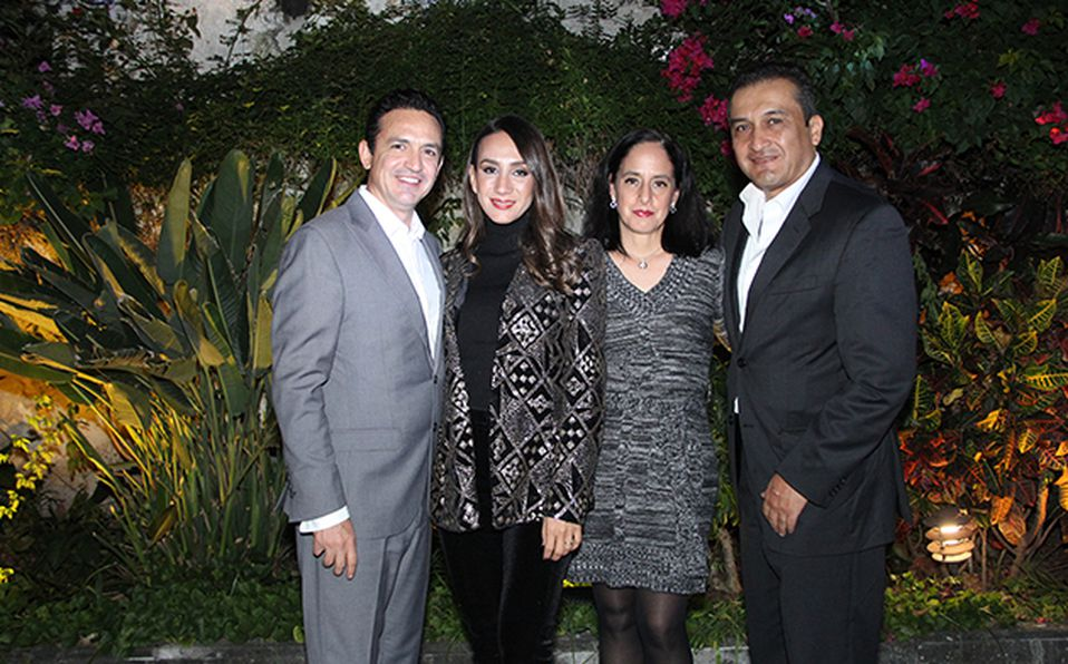 Alejandro Tejeda, Ana Guzmán,  Isabel peregrina y César Acosta