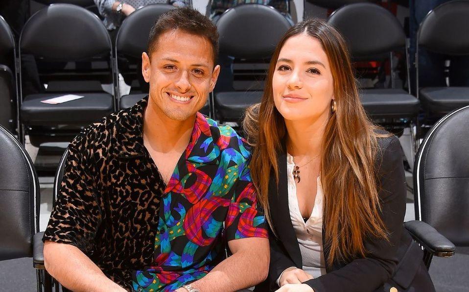 'Chicharito' Hernández y Sarah Kohan. Foto: Getty