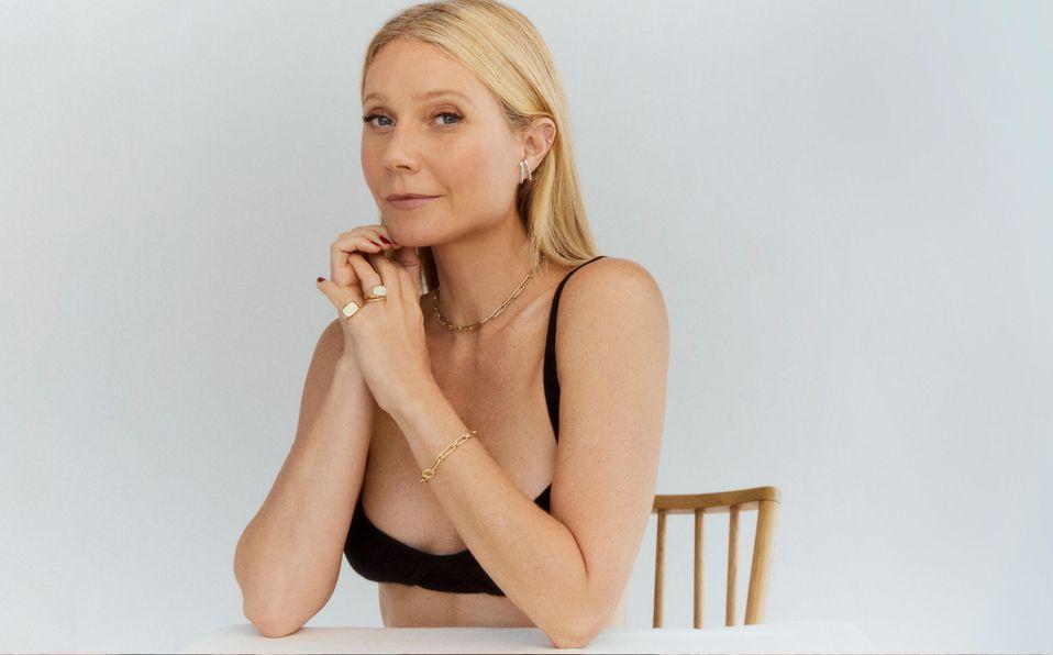 Gwyneth Paltrow posa en topless para presentar su nueva línea de joyas Goop (Foto: Goop)