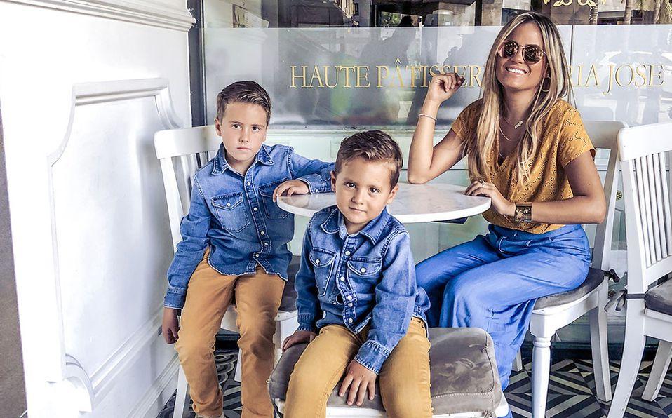 Para Majo, sus hijos son su fuente de alegría. (Foto: Cortesía)