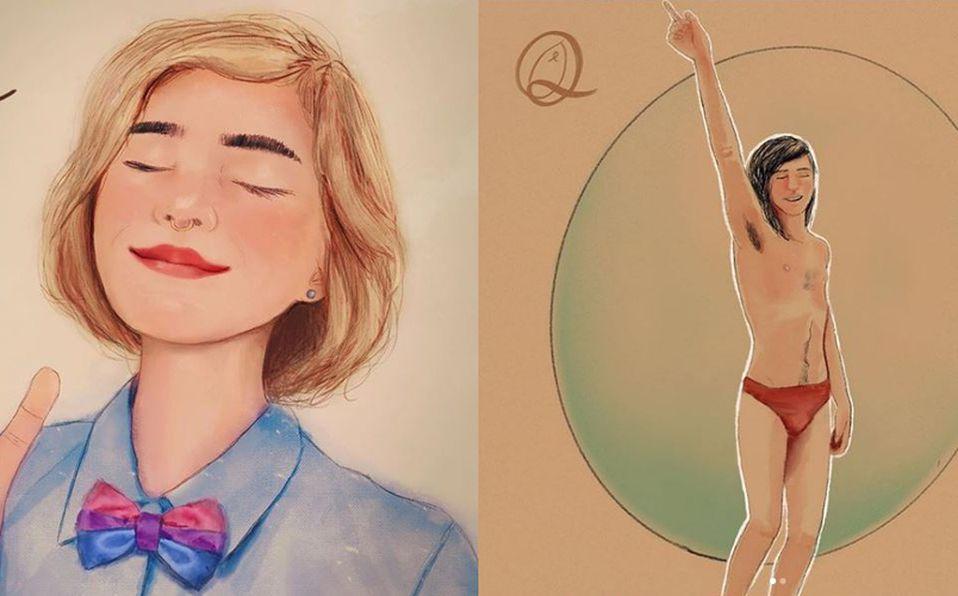 La artista digital Nomi ha mostrado su apoyo a la comunidad LGBT