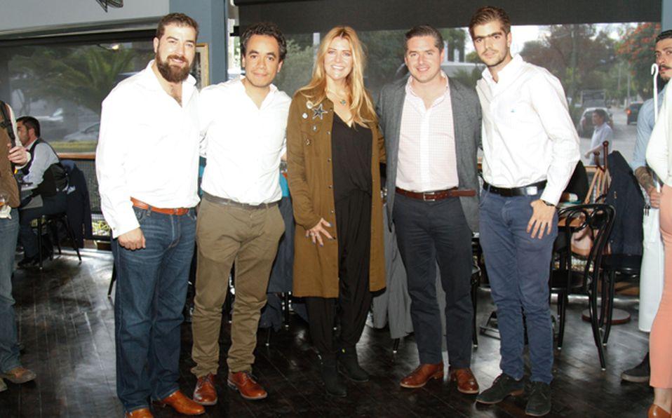 José Luis Valenzuela, Guillermo Hernández, Lety Sahagún, Checo Barrera y Rodrigo Sahagún