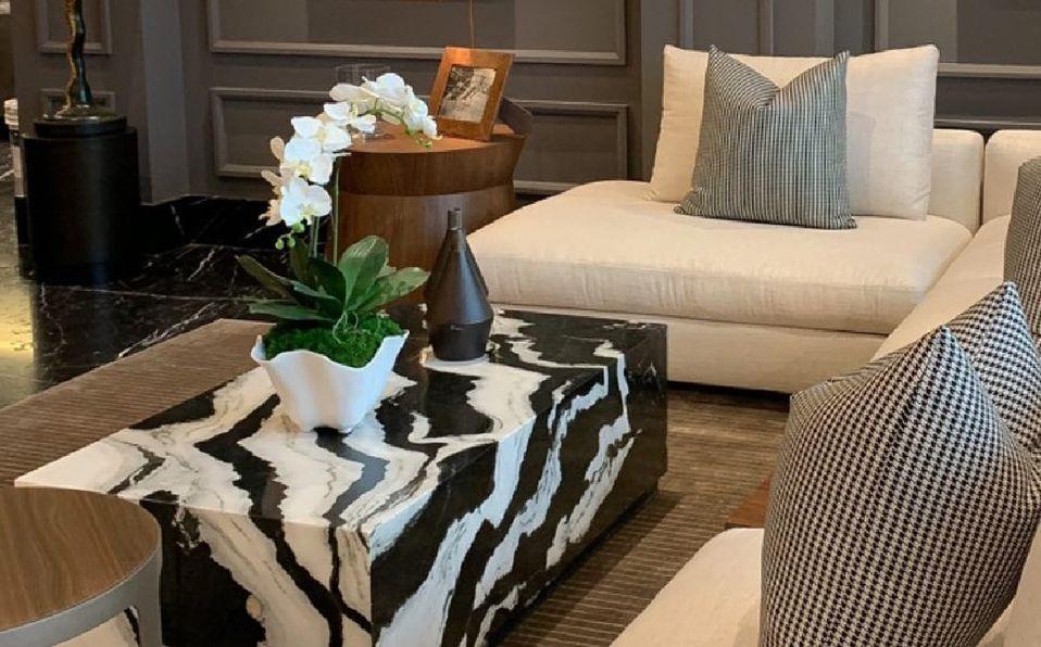 Diseño de interiores con mármol. (Imagen: Instagram).