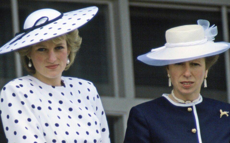 Así fue la relación de Lady Di y la Princesa Ana (Foto: Getty Images)