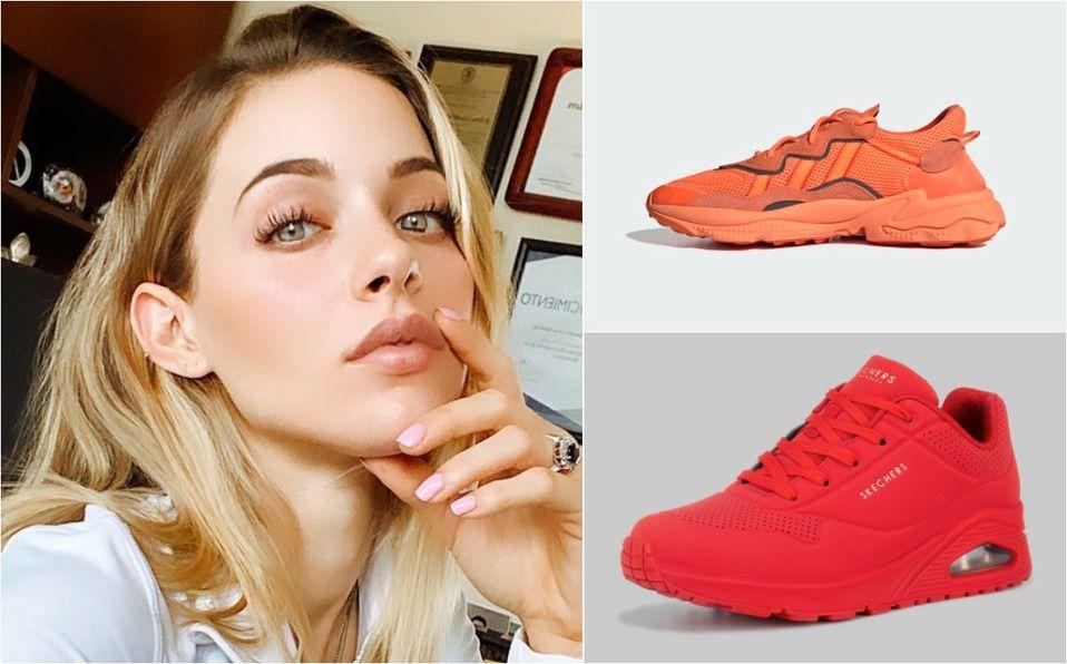 Tenis fosforescentes, la nueva tendencia en zapatos, según Mariana Rodríguez