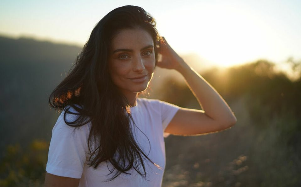 Es la segunda vez que Aislinn Derbez colabora con la marca Morena Corazón.