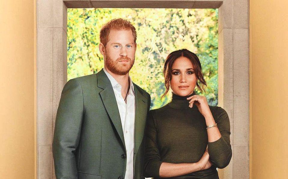 Meghan Markle y Harry posan para su primera portada de revista (Foto: Time)