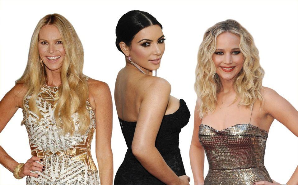Elle Macpherson, Kim Kardashian y Jennifer Lawrence (Foto: Shutterstock).