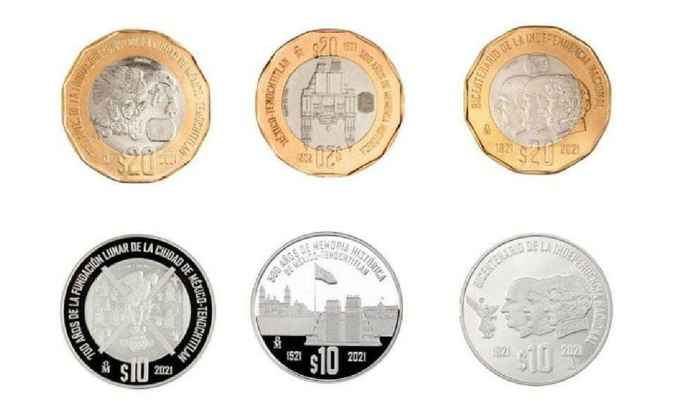 Monedas de 10 pesos en circulación. (Foto: Instagram).