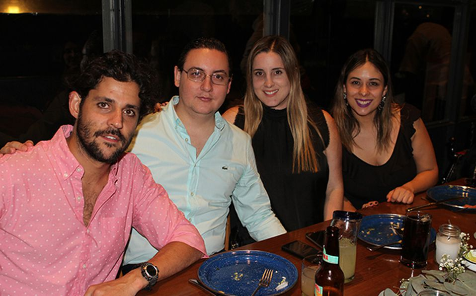 Santiago Rodríguez, Luis Machego, Alejandra Mier y Paulina López