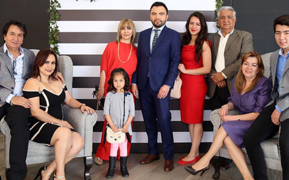 Familiares del festejado