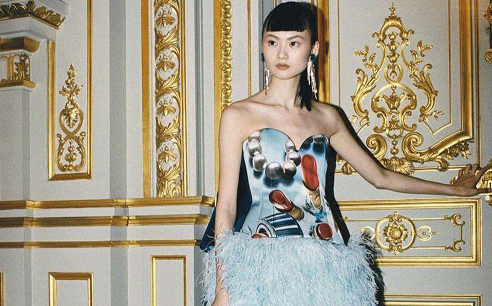 Durante la semana de la moda de Paris, los flecos fueron atrevidos. Foto: Archivo