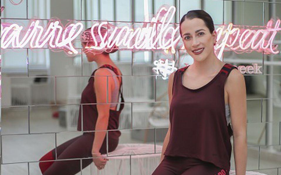 Lau García comparte su gusto por el pilates. Foto: Aarón Solís