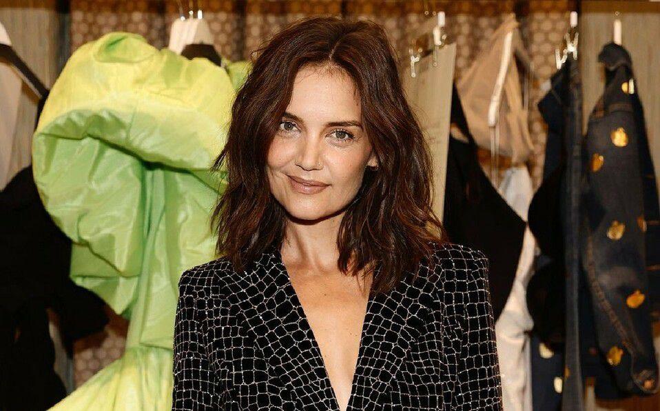 Katie Holmes: vestido de la Semana de la Moda en Nueva York. (Foto: Instagram).