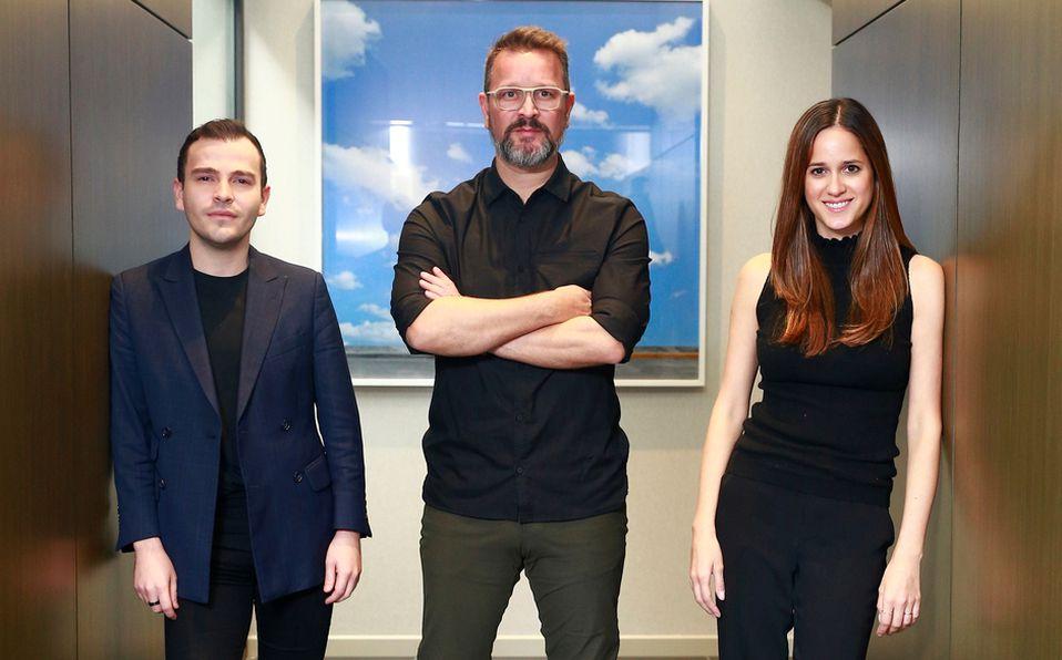 Daniel García, Bernardo Pozas y Cristina Coppel de PCG Design / Fotografía: Cortesía Daniel Saldívar