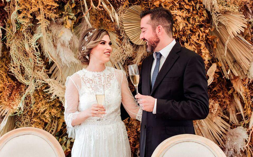 Margarita y Polo sellaron su amor en una emotiva ceremonia civil (Foto:  Armando Aragón)