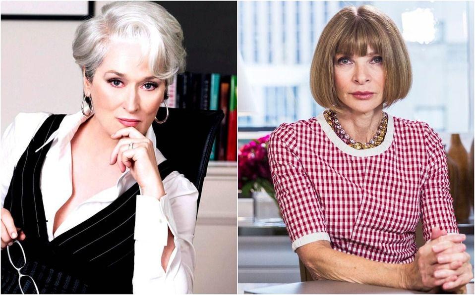 Anna Wintour, la directora de Vogue, ¿inspiró El diablo viste a la moda? (Foto: Instagram)