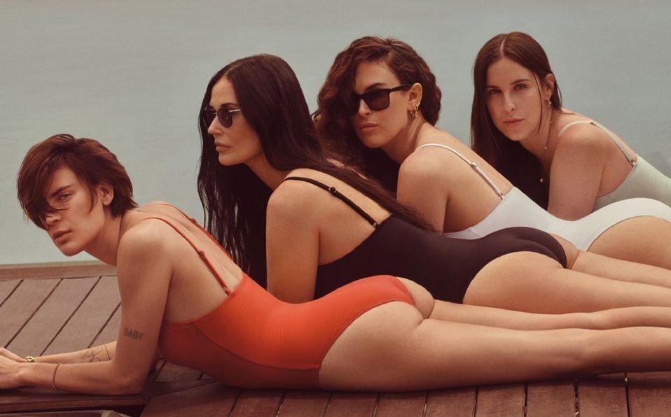 Demi Moore modela nueva colección de trajes de baño con sus hijas (Foto: Instagram)