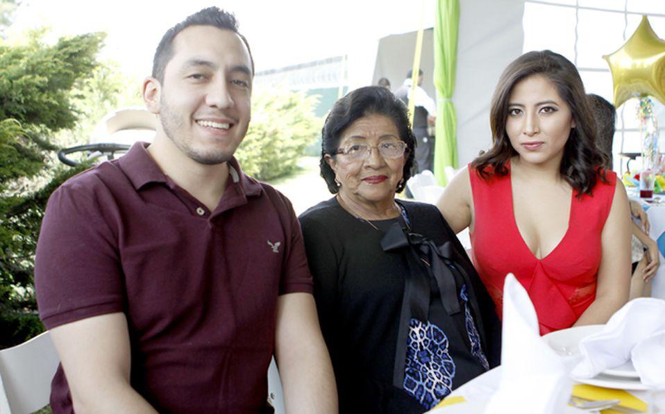 Miriam Jasso, Pily Rico y Benjamin Rico