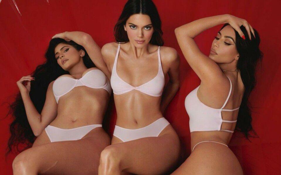Kylie, Kim y Kendall y su lencería de SKIMS para San Valentín (Foto: Instagram)