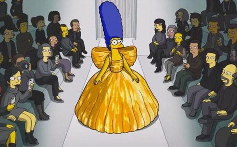 Marge Simpson lució un diseño de Balenciaga primavera-verano 2022 en fashion film muy especial. Foto: YouTube Balenciaga