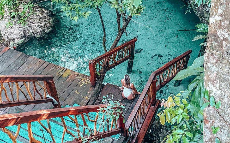 El cenote Ik Kil de nuestro país también es conocido como el cenote sagrado azul. Foto: Archivo