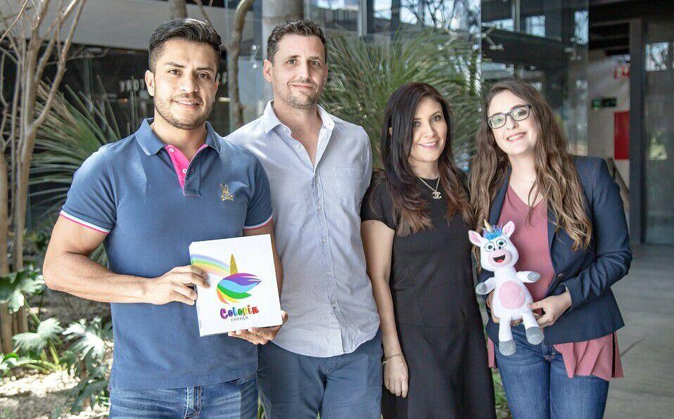 Mario López, Erwann Adam, Marbella López y Laura Laisequilla / Foto: Carlos Dayan Aparicio.